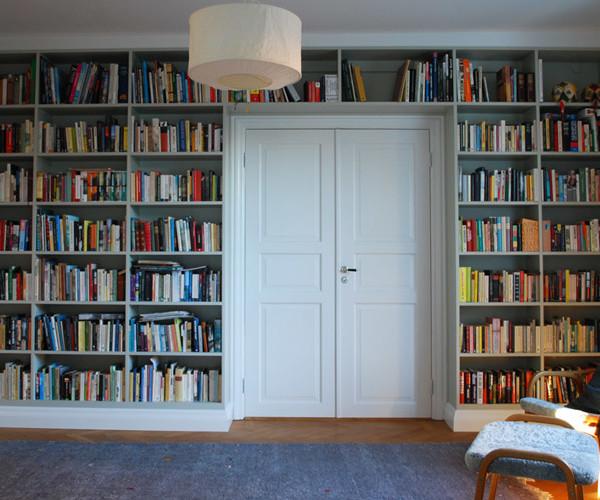 Platsbyggd bokhylla Limhamn